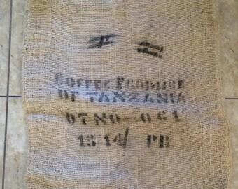 Produce of Tanzania Burlap Coffee Sacks