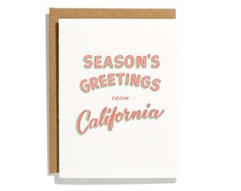 California Season's Greetings - Letterpress Holiday Card - CHB282