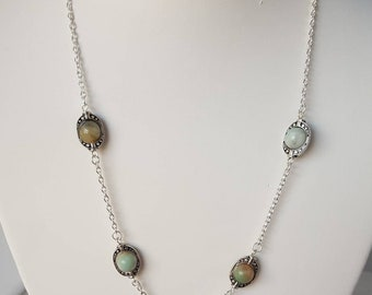 Moonstone Sterling Silver Necklace.