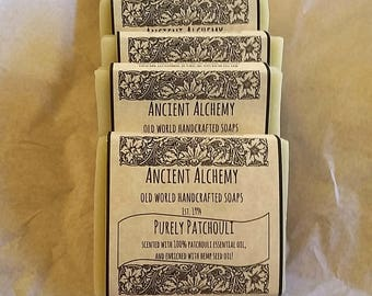 """Handmade Handcrafted Soap - """"Purely Patchouli"""" - Labeled Bar"""