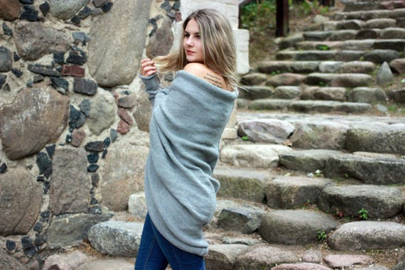 cocoon long knit romantic gift wrap cardigan wool oversized boho brown gray Alpaca style coat woman cardigan sweater shrug bohemian qIwpAn
