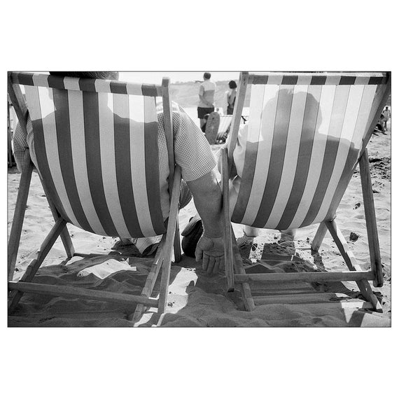 Black and white photography print 6x4 seaside beach people surreal