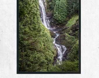 Waterfall Photography Print, Wall Art, Home Decor