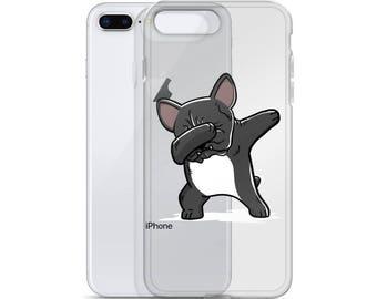 Funny Dabbing French Bulldog iPhone Case, Cute French Bulldog Gift, Frenchie Dog Dab Dance Phone Case