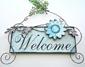 Warm Welcome Sign Cross Stitch Pattern
