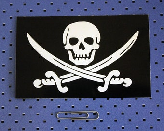 Jolly Roger Pirate Flag Skull And Crossbones Bumper Sticker