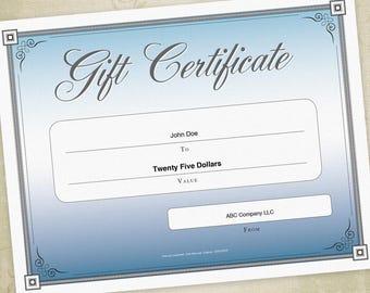 diy gift certificate printable
