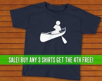 Canoeing T-Shirt, Canoe Shirt, Unisex T-Shirt, Kids Canoeing Shirt, Kids Canoeing T-Shirt, Many Colors, Kids Tee, Kids Lake Tee