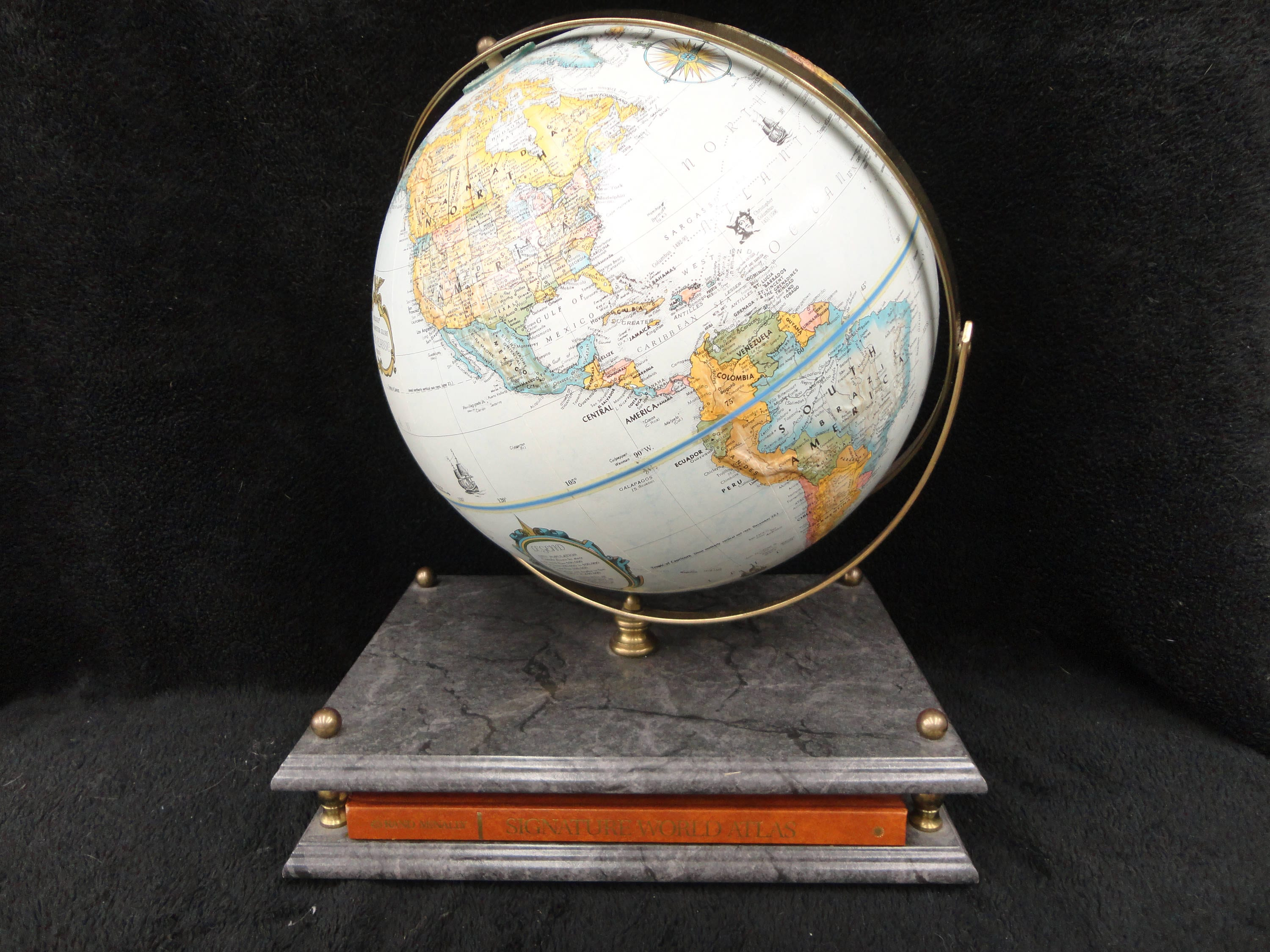 Rand mcnally globe and atlas display w stand signature zoom gumiabroncs Gallery