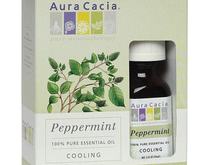 Aura Cacia Peppermint Essential Oil 0.5 FL. OZ.