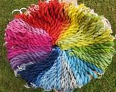Naturally dyed spun silk ...