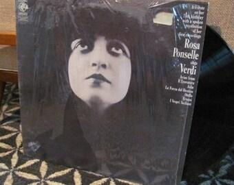 "Vintage 70's ""Rosa Ponselle Sings Verdi"" Opera Vinyl Record Album - 75th Birthday Album - American Soprano - 70's Album - 70's Opera Album"