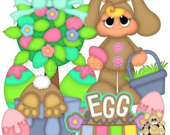 Easter die cuts, scrapbook die cuts, scrapbooking, die cuts, Easter, Easter scrapbook, Easter eggs, scrapbook, embellishments, card making