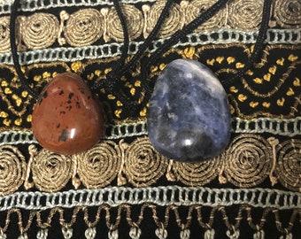 Mahogany Obsidian & Sodalite Necklaces