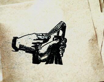 Bottle Opener Rubber Stamp - Wine Stamp - Beer Stamp - Ale Stamp