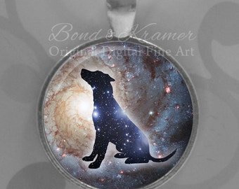 Dog Spirit Animal Space Pendant - Dogs Astronomy Galaxy Nebula Spirit Dog Lover Gift Astronomy Lover Dog Totem