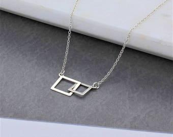 Personalised Interlocking Squares Bracelet