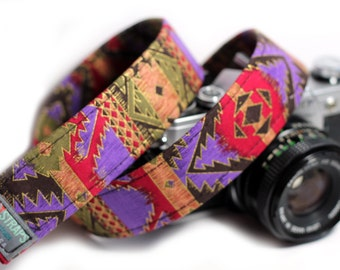Ethnic Camera Strap - African, Aztec, Bohemian Camera Strap - The Egyptian