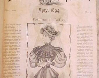 "Amazing 1894 ""The Delineator"" Fashion Magazine-Wonderful Look into the Victorian Era"