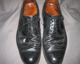Vintage Men's CONTINENTAL BY CISCO Long Wingtip Black Oxford Dress Shoes, 12 D