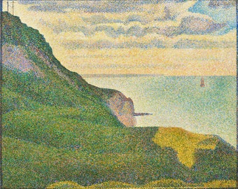 "Georges Seurat : ""Seascape at Port-en-Bessin, Normandy"" (1888) - Giclee Fine Art Print"