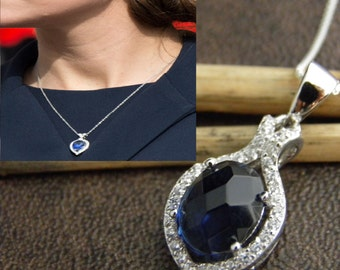 Kate Sapphire Necklace - Duchess Necklace