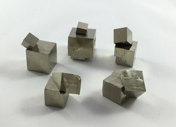 PYRITE CUBES// Natural Pyrite Cube Scultures// Healing Gemstone// Fools Good// Pyrite// Home Decor// Healing Tools// Raw Healing Crystals//