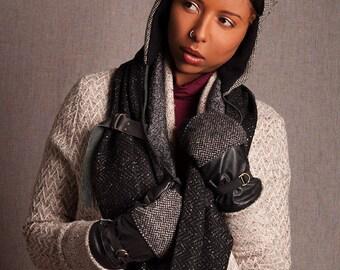 Infinity  scarf arrow road grey & snow