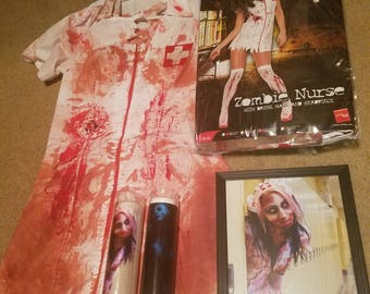 Bloody Zombie Nurse Costume!!