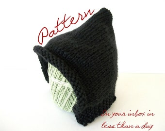 PDF Knitting Pattern: Baby Pixie Hat Sizes Newborn, 3 to 6 Months, and 6 to 12 Months