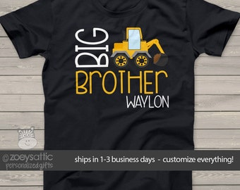Big brother shirt construction truck DARK Tshirt MDT-012-d