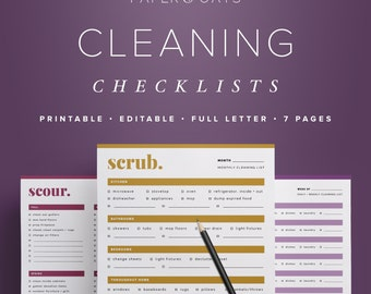 cleaning checklists cleaning schedule house cleaning list daily routine daily weekly