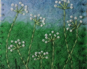 Handmade Felt Flower Brooch.