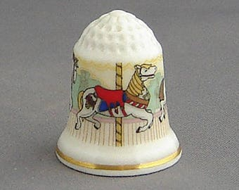 Royal Doulton Thimble - Fairground Carousel