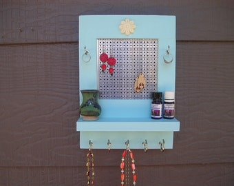 You Pick The Color Wall Mounted Jewelry Organizer, Wall Organizer, Jewelry Display, Necklace Holder, Earring Organizer, Children's Organizer