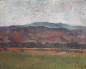 1945 oil painting impressionist landscape