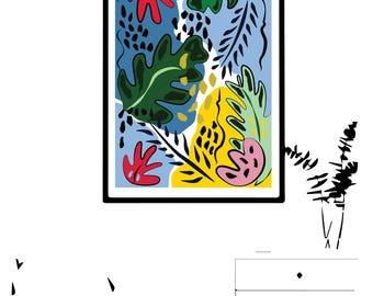 Floral graphic design print I