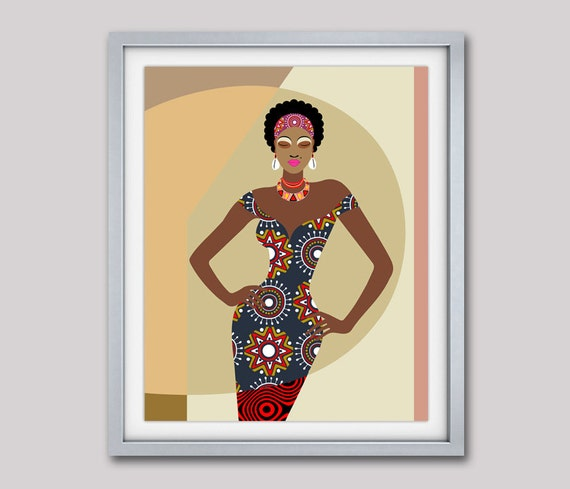 Uvre dart africain peinture africaine femme africaine for Decoration murale africaine
