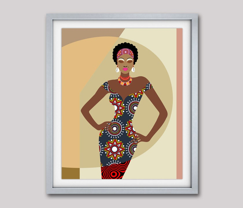 African Artwork, African Painting, African Woman, African Wall Decor ...