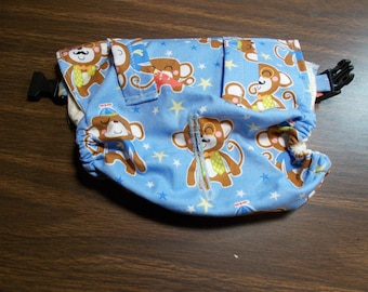 monkey diaper cover for capuchin, java, owl, squirrel