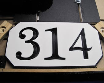 Custom 3 number engraved sign, 2 sided option available