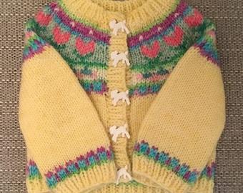 Yarn and digital pattern set, sring cardigan, uk, merino, hand dyed wool