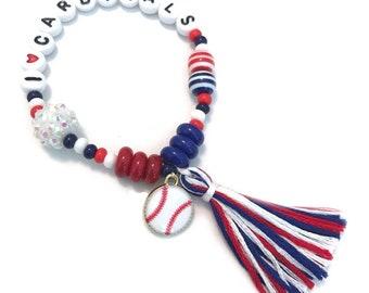 Customizable Baseball Charm Bracelet- pick your own team colors!