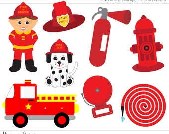 Commercial Use Clipart, Commercial Use Clip Art, Fireman Clipart, Fireman Clip Art, Firetruck Party, Commercial License, Commercial Clipart