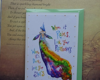 Rainbow maker handmade Card