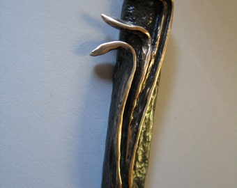 Shin Mezuzah, Oil  rubbed bronze