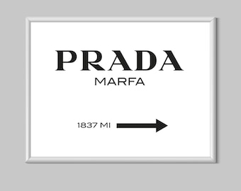 Prada Marfa White Vogue Fashion Lifestyle Canvas Print Poster