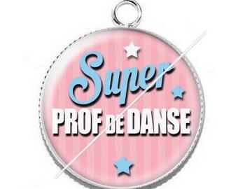 Pendant cabochon resin for a dance teacher 14