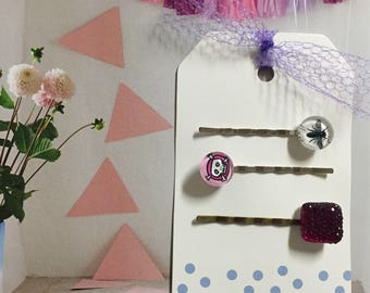 Whimsical hair clips for any upcoming fun filled occasions.