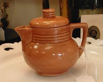 Vintage Unmarked Glazed Terracotta Teapot!